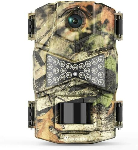 Wosoda cámara de Vida Silvestre 16MP 1080P Cámara Trail Juego movimiento activada Infrarrojo..