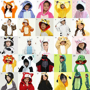 2019-Pajamas-Kigurumi-Children-039-s-Unisex-Cosplay-Animal-Costume-bodysuit-for-Kids
