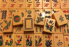 Very Rare Vtg 1940's Bakelite Hand Carved Rottgames Tri-Color Mahjong Set