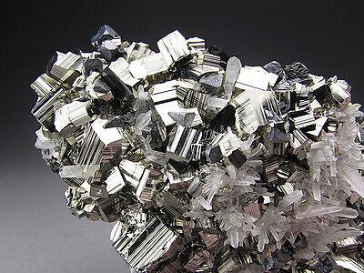 Pyrite and Quartz Crystals, Huaron, Peru