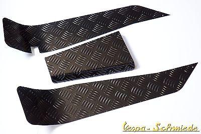 VESPA Riffelblech Trittblech - Schwarz / Komplett - PK / XL / XL2 - Fußmatte