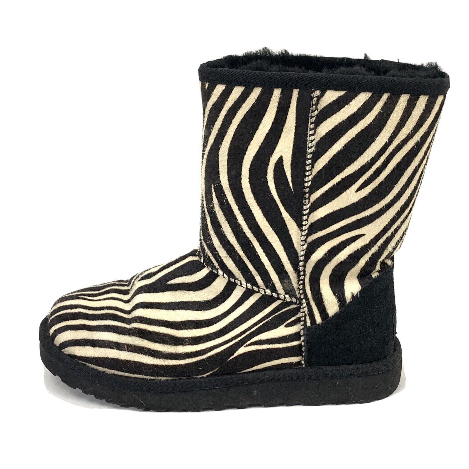 UGG Classic Short Exotic Zebra Boots Genuine Shee… - image 1