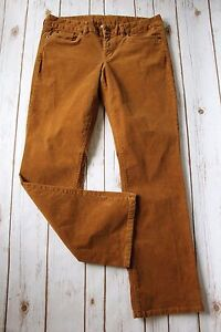 J-Crew-Pants-31-S-Favorite-Fit-Cord-Corduroy-Golden-Brown-Mustard-31-034-Inseam