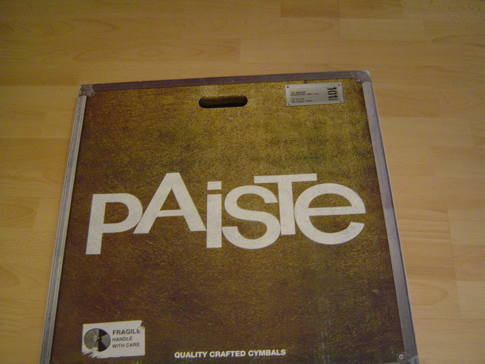 Paiste 101 Brass Essential Beckensatz, 13 Hihat  18 Crash-Ride- NEU