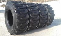 4 14-17.5 Skid Steer Tires 14x17.5 - 14 Ply Rating - 8500 Pound Load Range