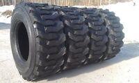 4 14-17.5 Skid Steer Tires 14x17.5 - 14 Ply Rating - 8500 Pound Load Range
