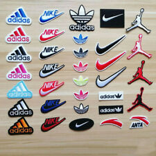 "3/"" Silver swoosh Sports Basketball Shoe Logo Patch"
