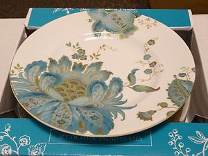 4 NEW IN BOX 222 FIFTH ELIZA PORCELAIN SALAD PLATES APX 8 3/4 ...