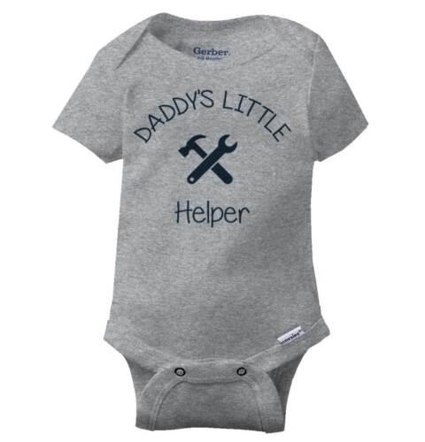 Daddy/'s Little Helper Tools Gerber OnesieFix It Father Mechanic Baby Romper