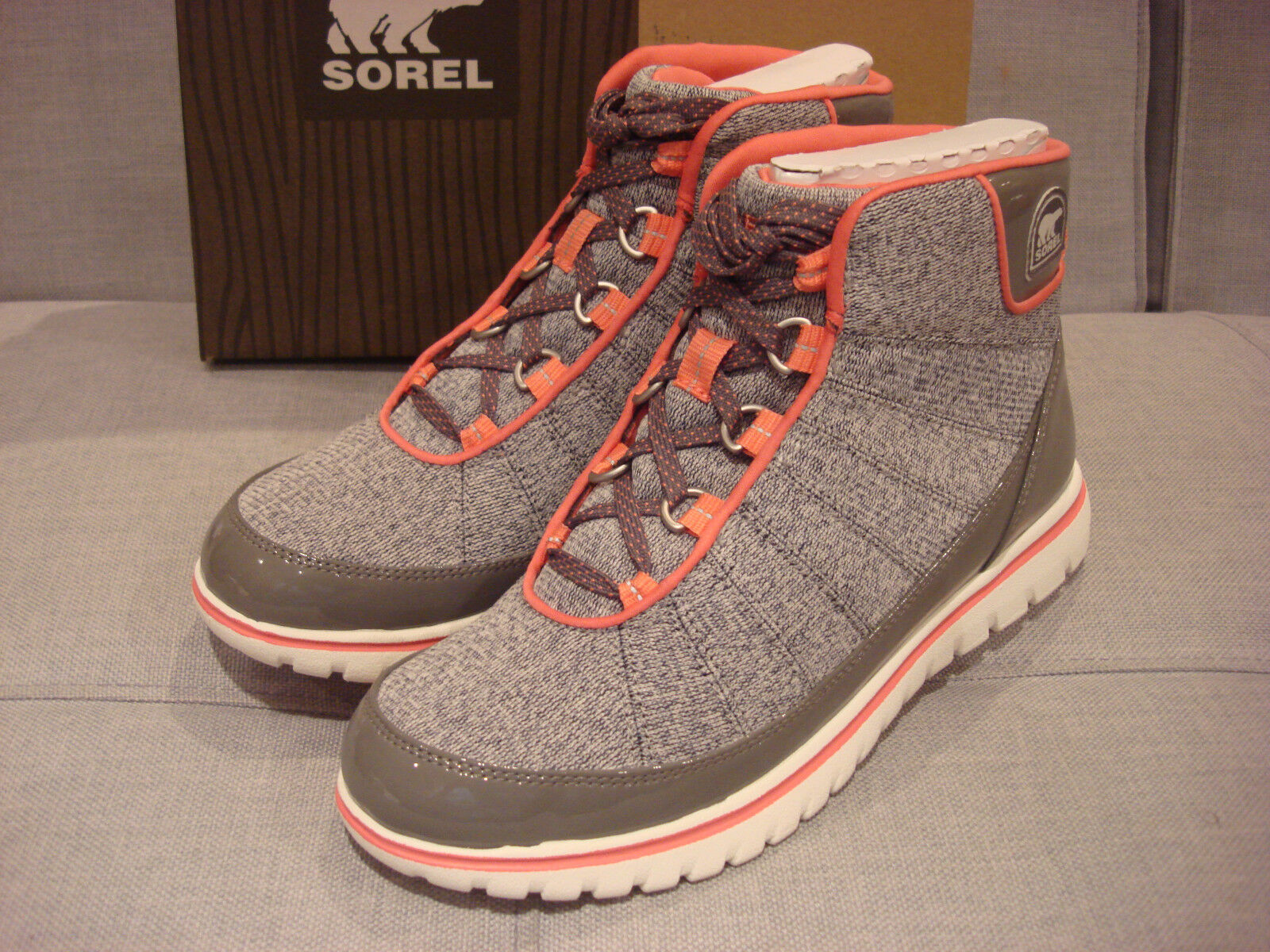 SOREL SOREL SOREL WOMEN'S TIVOLI GO HIGH LIGHT GREY WILD MELON SIZE 6 Schuhe - BRAND NEW ffadab