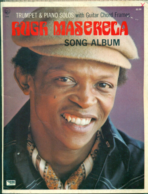 1969 - Hugh Masekela Song book  TRUMPET Solos Piano sheet music song book Jazz