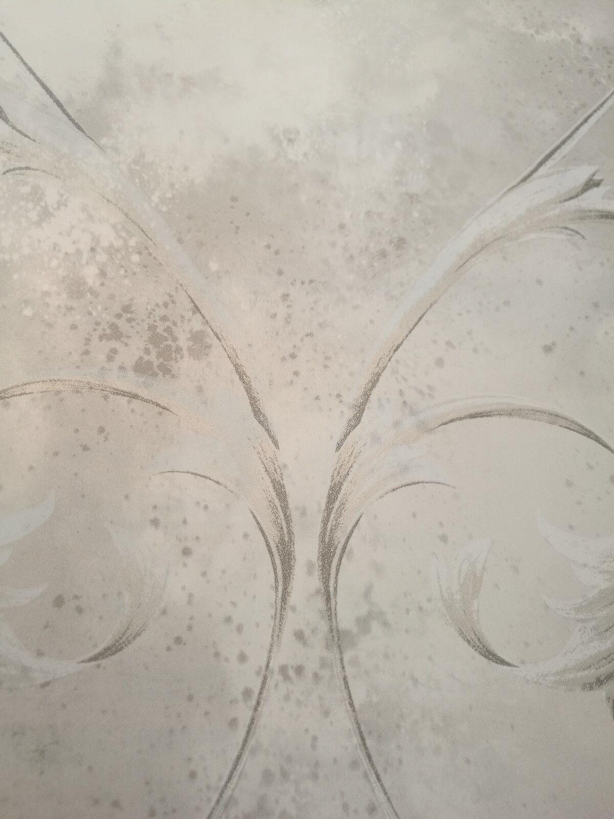 Papier peint, Design Design Design Papier Peint, Brillance, lianes, nuages-Print, Ivoire, Pierre, gris a58496