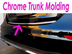 1 Piece Chrome Hood Trunk Molding Trim Kit For Infiniti Models