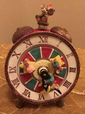 Turning Sleeping Mice Alarm Clock Music Box Figurine Coca Cola I'd Like To Teach