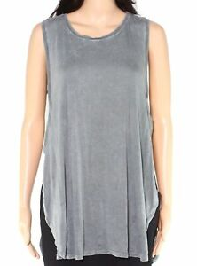Zella-Womens-Tank-Top-Green-Size-Medium-M-Tunic-Side-Slits-Crew-Neck-39-265
