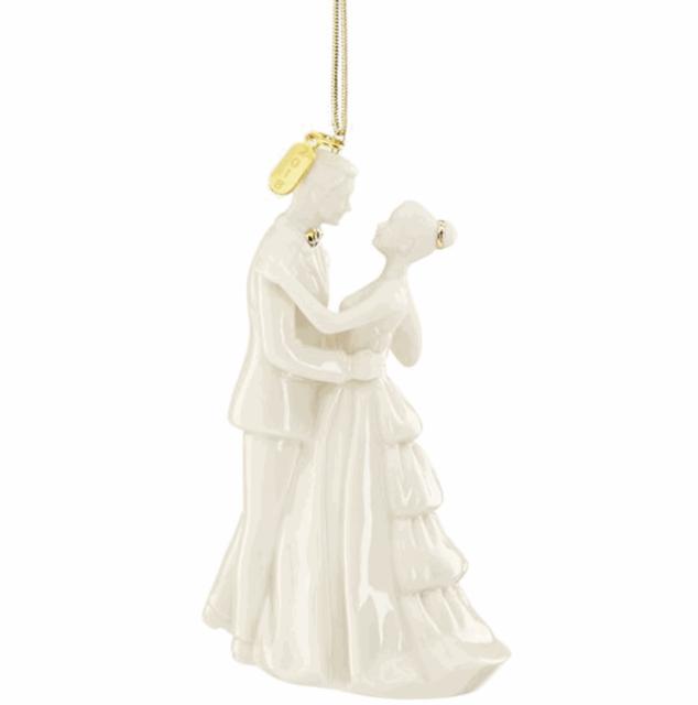 2018 Lenox Bride and Groom Wedding White Porcelain Christmas ...