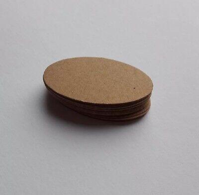 50  Preisetiketten,Kraftpapier 18mm x 38mm,natur ovale Form