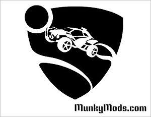 Rocket-League-Game-Logo-Computer-Case-Window-Applique-Vinyl-Decal-Color-Choice