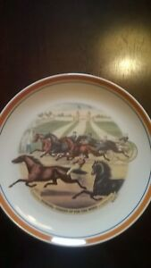 Horse-Racing-Collector-039-s-Plate-034-Scoring-Coming-Up-For-the-World-034