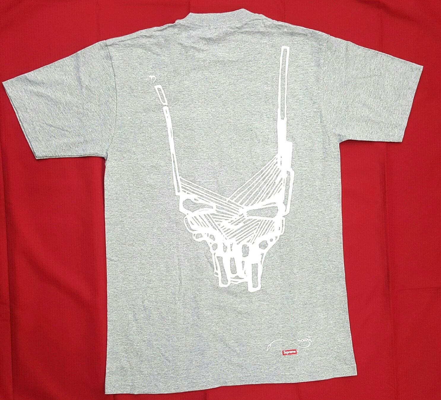 SUPREME X DONDI SKULL HEAD TEE IN grau LIMITED EDITION 100% authentic VERY RARE