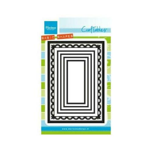 Marianne Design Craftables découpe dies-Basics formes rectangles cr1334
