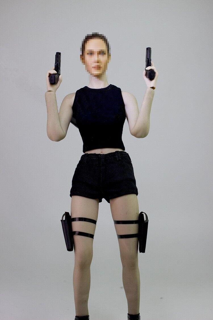 1 6 FOCUSTOYS Female Agent Clothing Gun Model F03 For 12inch Action Figure Set