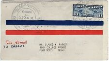 USA: 1926 FIRST FLIGHT COVER FROM CHICAGO TO DALLAS (C23400)