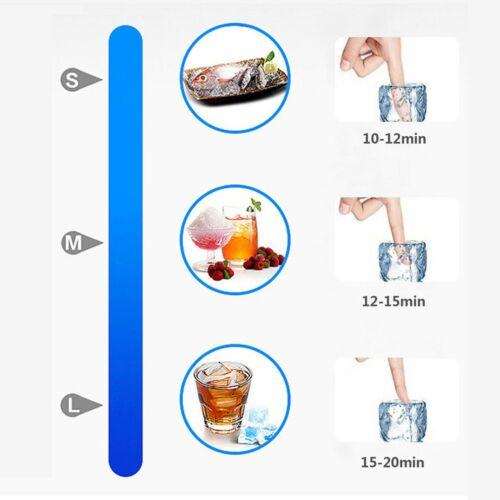 60kg//24h Eiswürfelmaschine Eiswürfelbereiter Ice Maker Eismaschine Edelstahl