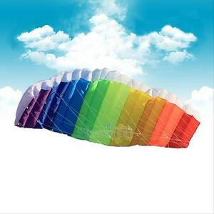 Rainbow-Sports-Beach-Kite-Power-Dual-Line-Stunt-Parafoil-Parachute-For-Beginner