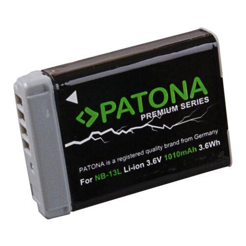 Batteria nb-13l premium 1010 mah per CANON Powershot G7X NB-13L NB13L