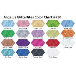 Angelus Glitterlites Sky Blue Lederfarbe 29,5ml (23,56€/100ml) Glitzer Farbe