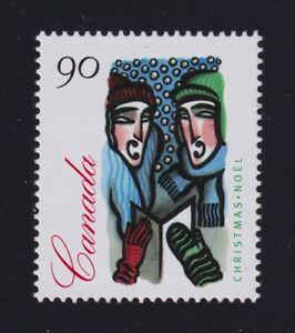 Canada Sc #1535ii (1994) 90c Christmas Carolling Unissed Denomination Mint VF NH