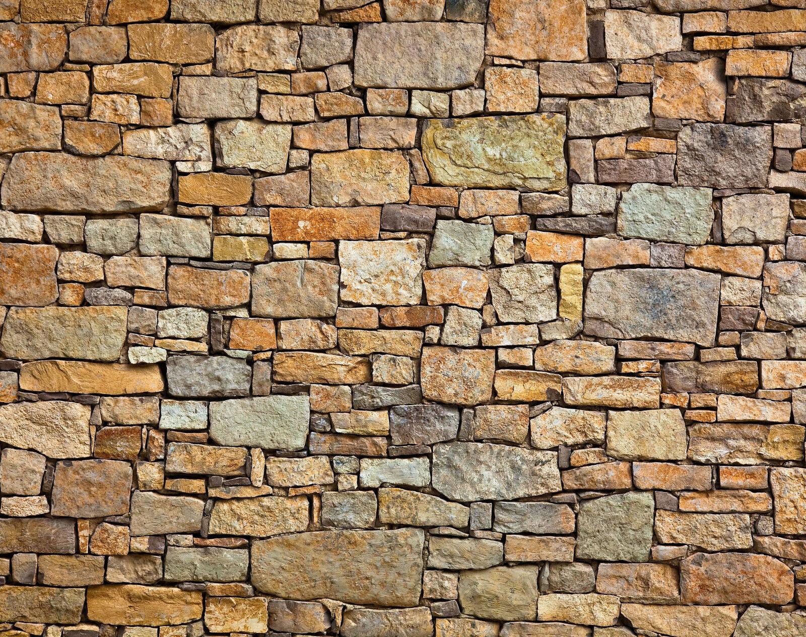Papier Peint Photo INTISSé-(15V)- MUR de PIERRE-350x260cm 7 lés-Mural Stonewall