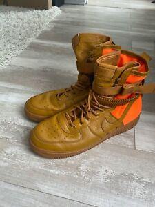 Nike SF AF1 QS Special Field Air Force 1 Brown Orange 903270-778 Men's 15