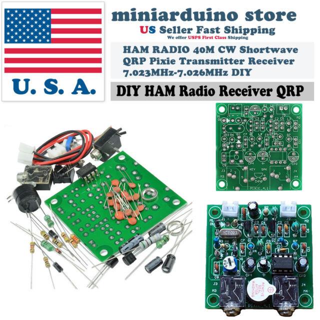 40m Cw Shortwave Qrp Pixie Transmitter Receiver Ham Radio 7 023 7 026mhz Diy Kit For Sale Online Ebay