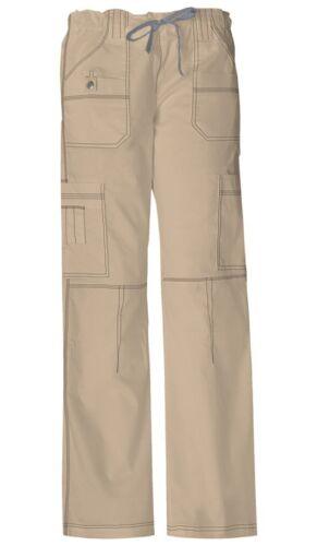Dickies Scrubs Petite Drawstring Cargo Pant 857455P Khaki Dickies Jr Fit