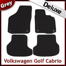 VW Golf Mk6 Cabriolet 2011-2016 Tailored LUXURY 1300g Carpet Mats GREY