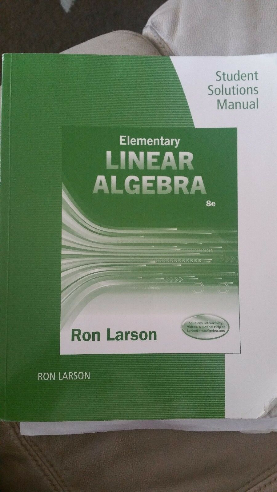 Student Solutions Manual for Larson's Elementary Linear Algebra, 8th by Ron  Larson (2016, Paperback) | eBay