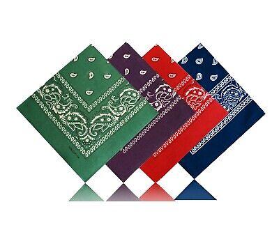 4er Set Paisley Bandana Scarf Nicki Tuch Schal Grün Dunkel Blau Rot Dunkel Lila In Verschiedenen AusfüHrungen Und Spezifikationen FüR Ihre Auswahl ErhäLtlich