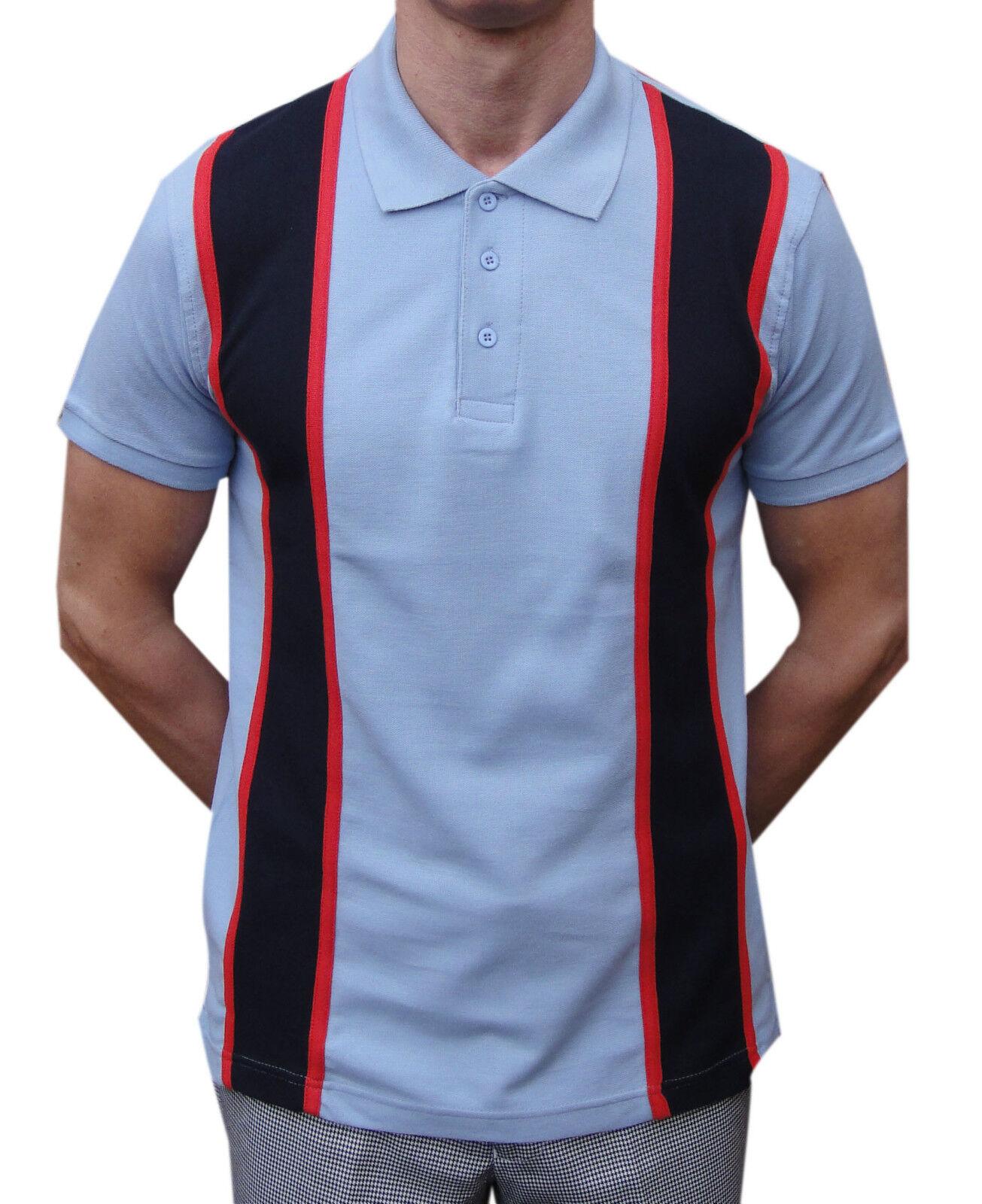 1b52b6da SKY POLO SHIRT RELCO SKINHEAD SCOOTERIST RETRO SKA MOD CLOTHING STRIPED  blueE nzfrnw2417-Casual Shirts & Tops