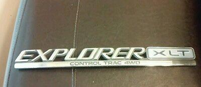 OEM Ford Explorer Rear Trunk XLT Control Trac 4wd script emblem badge decal