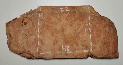2x Loupe d/'érable 24 x 22 cm ép 0.6mm L74 placage, furnier ahorn masser