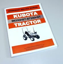 kubota b 6200 7200 tractor operators manual on cd rom ebay rh ebay com Kubota B7100 Kubota B7200 Steering Parts