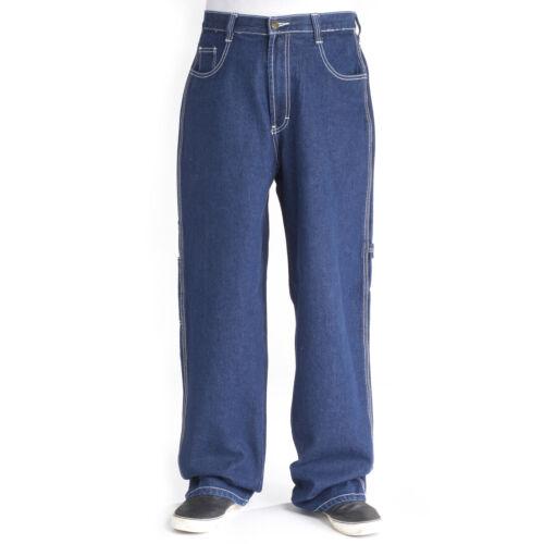 Bleubolt 20 Inch Hem Calamar Carpenter Loose Fit Trousers Big Size Baggy Jeans
