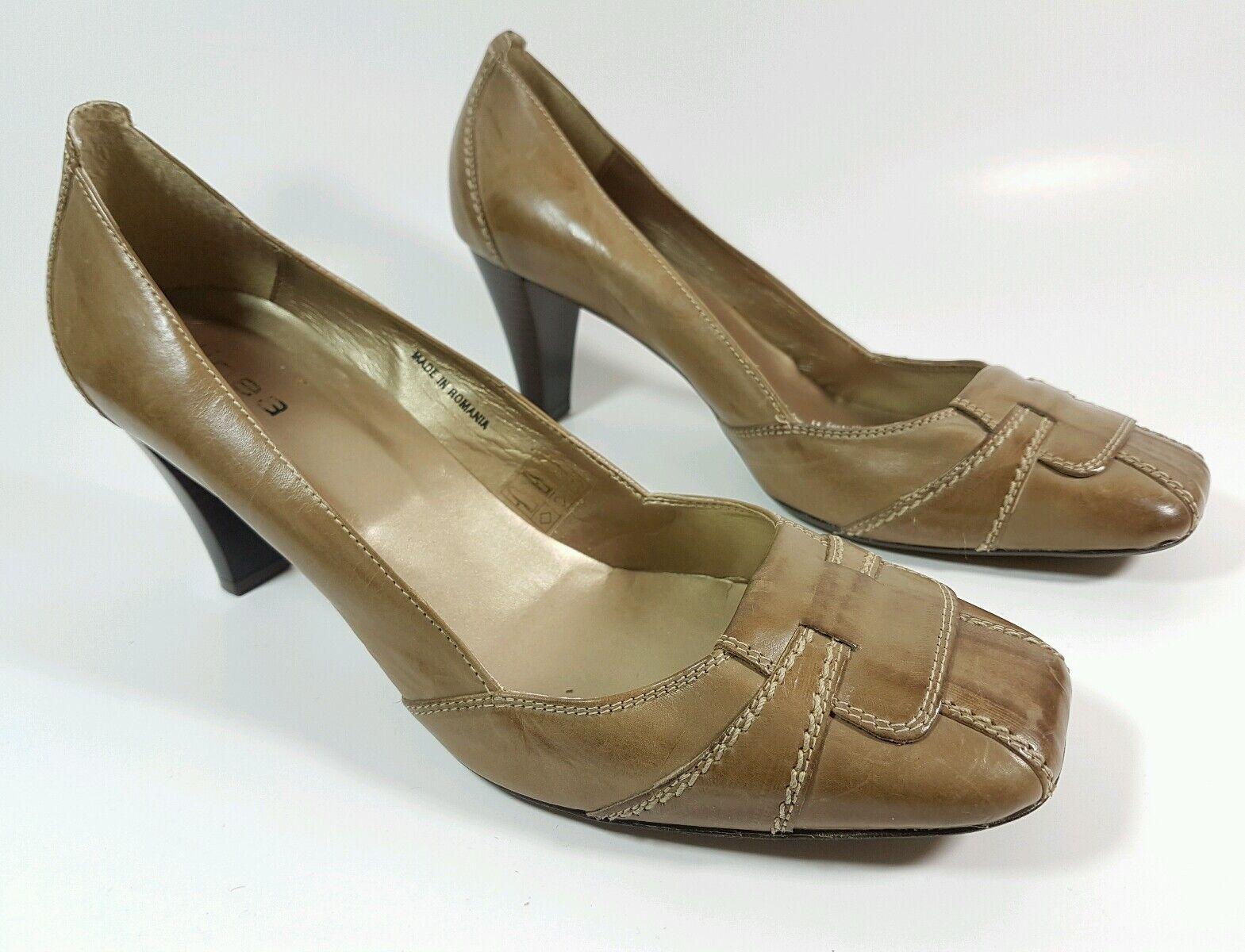 Linea tan leather heels uk 8 eu 41 New