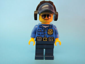 100% De Qualité Lego Figurine City Policier Officier Veste Bleue Capuchon Casque Cty455 60045-afficher Le Titre D'origine