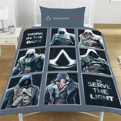 Bettwäschegarnituren Haben Sie Einen Fragenden Verstand Einzelbett Assassin's Creed Legacy Wendebettwäsche-set Paneele Grau Schwarz