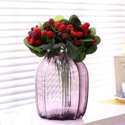 2 STÜCKE Künstliche Erdbeere Obst Pflanze Bouquet Hochzeit Dekoration WS6
