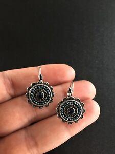 Earrings-Silver-Turquoise-Blue-Hippie-Ethnic-Boho-Gypsy-Folk-Bohemian-A1130