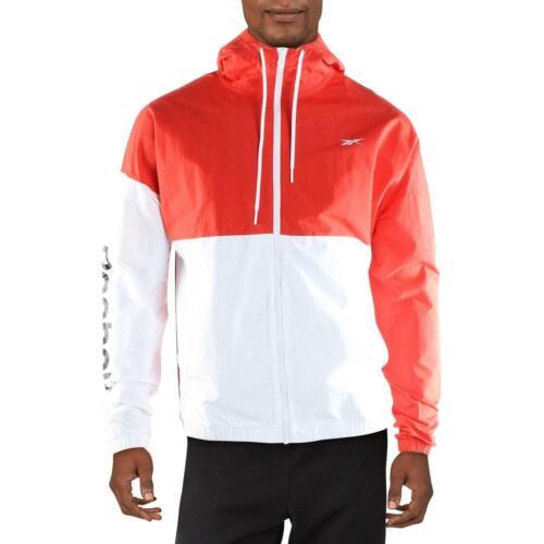 Reebok Mens Training Essentials Windbreaker Track Jacket Athletic BHFO 2381